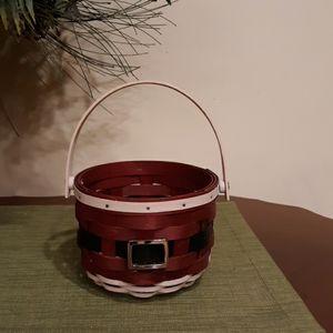 Longaberger Round Santa Belly basket